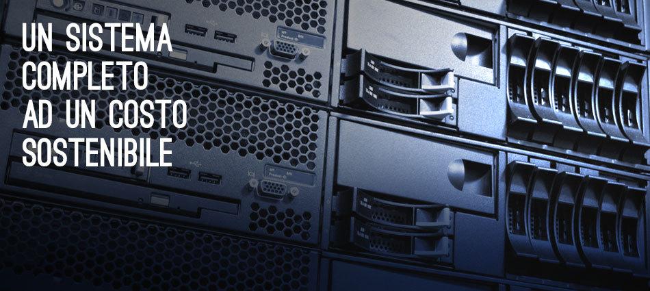Noleggiamo tutto il sistema IT: server, pc, stampanti multifunzione, anche il software gestionale.